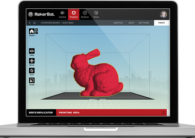 Prepare MBDesktop1 400x284 -MakerBot Replicator Z18