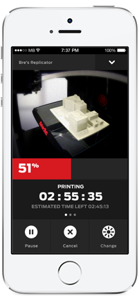 phone -MakerBot Replicator 2X