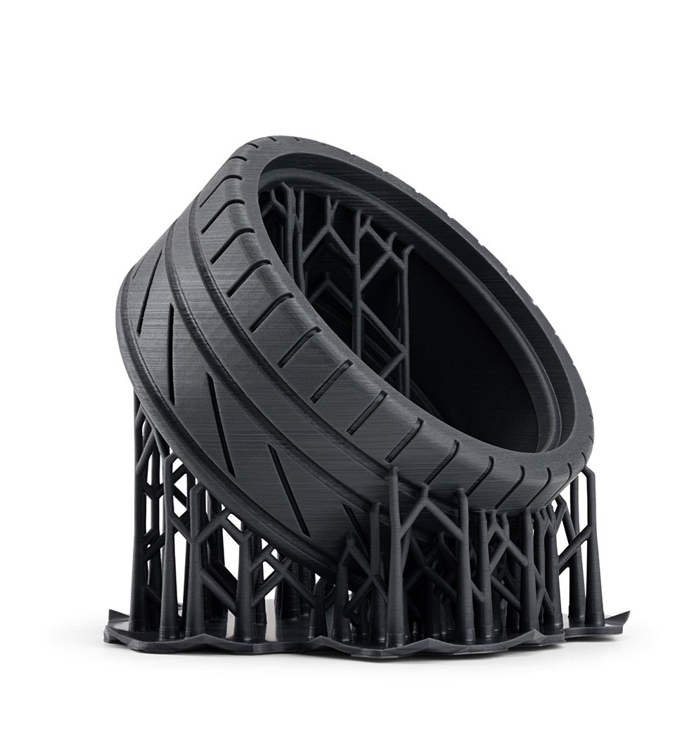 3. Flexible tire on supports -Form 2 Desktop Printer